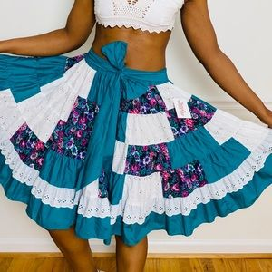 vintage square dance skirt